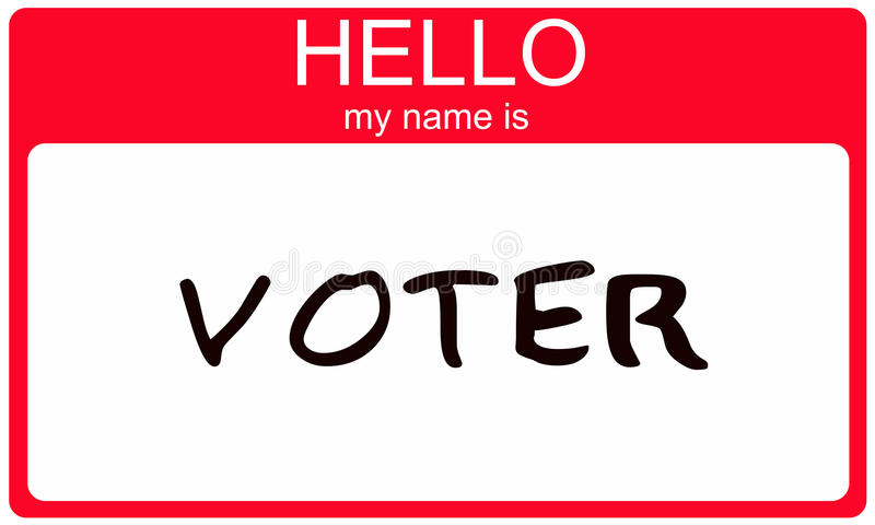 Download Hello my name is Voter stock illustration. Image of sticker - 21919090