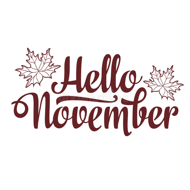 Hello november lettering composition flyer or banner template lettering composition flyer or banner template selling text stock vector pronofoot35fo Gallery