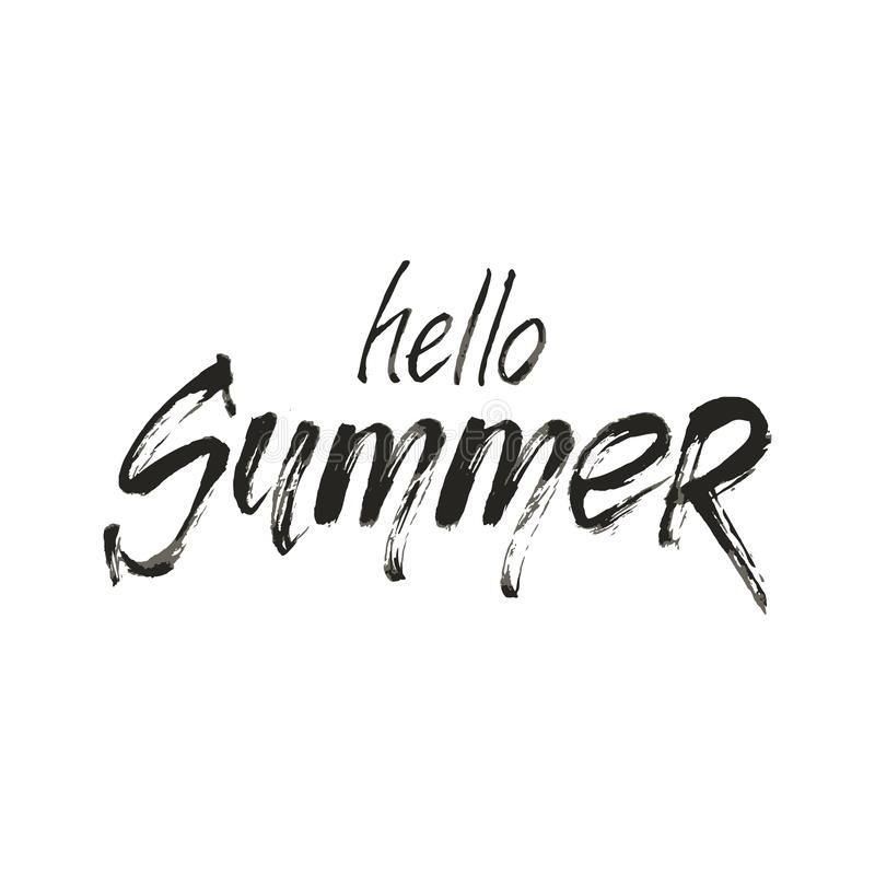 Hello sommarformuleringar vektor illustrationer