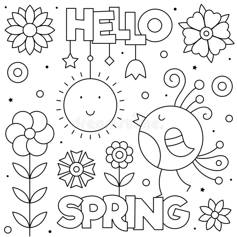 Spring Coloring Stock Illustrations – 8,8 Spring Coloring Stock