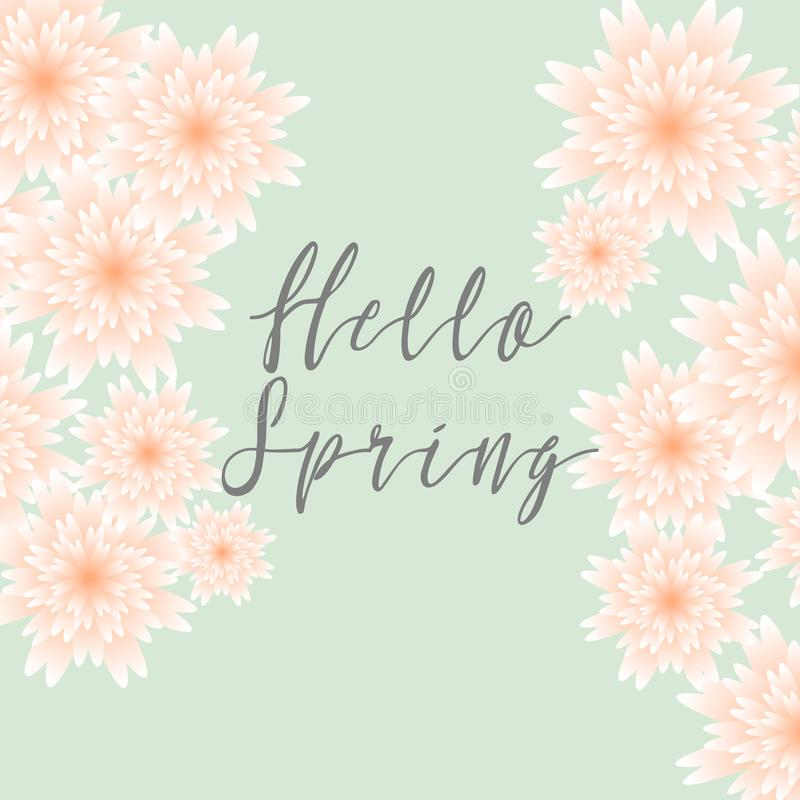 Hello spring floral greeting card paper flowers banner with download hello spring floral greeting card paper flowers banner with realistic paper flowers mightylinksfo