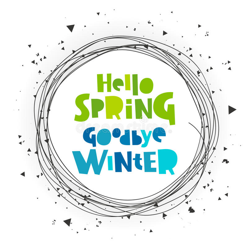 Download Hello Spring. Good Bye Winter Stock Vector   Illustration Of  April, Illustration: