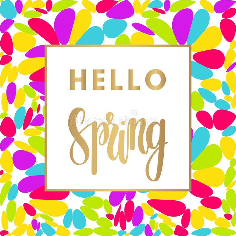 Hello spring sale banner. vector illustration