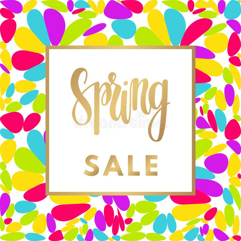 Hello spring sale banner. royalty free illustration