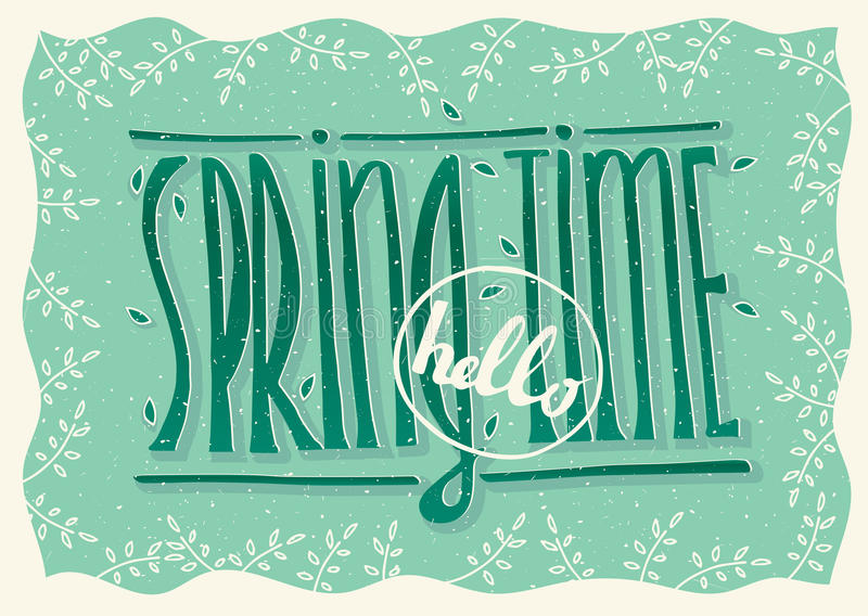 Hello spring time royalty free illustration