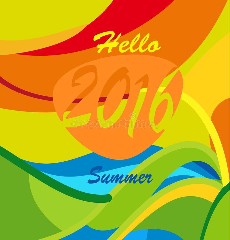 Olympics Games 2016 Hello summer vector illustration