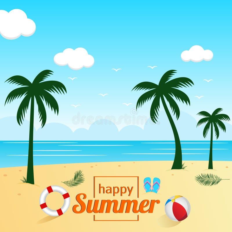 Hello summer background design royalty free illustration