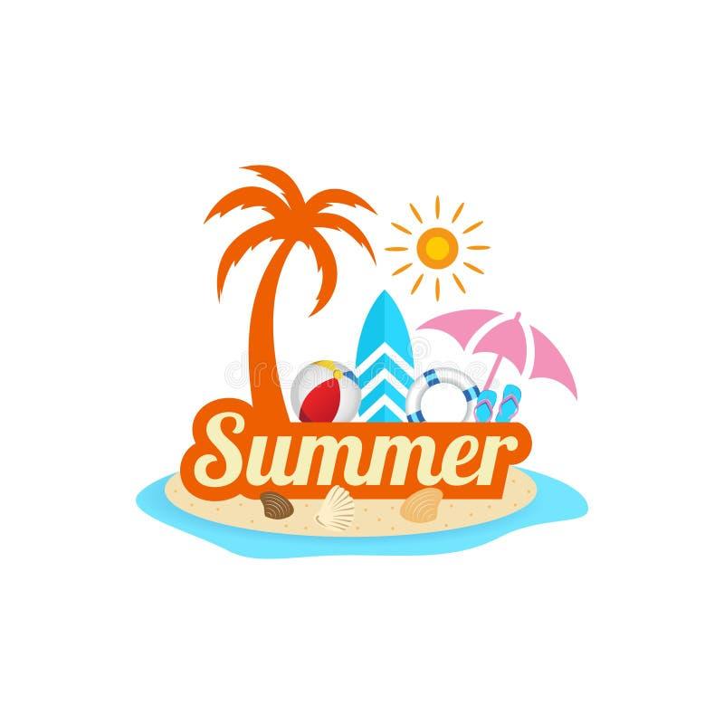 Hello summer background design stock illustration