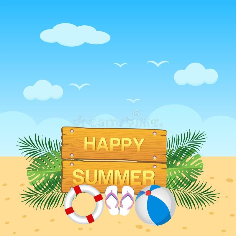 Hello summer background design vector illustration