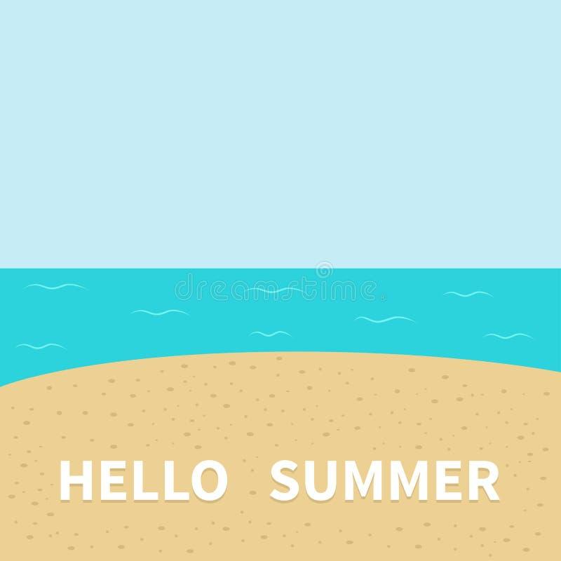 Superieur Download Hello Summer Beach, Sea Ocean, Sky, Sand. Stock Vector    Illustration