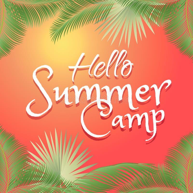 Hello Summer Camp royalty free illustration