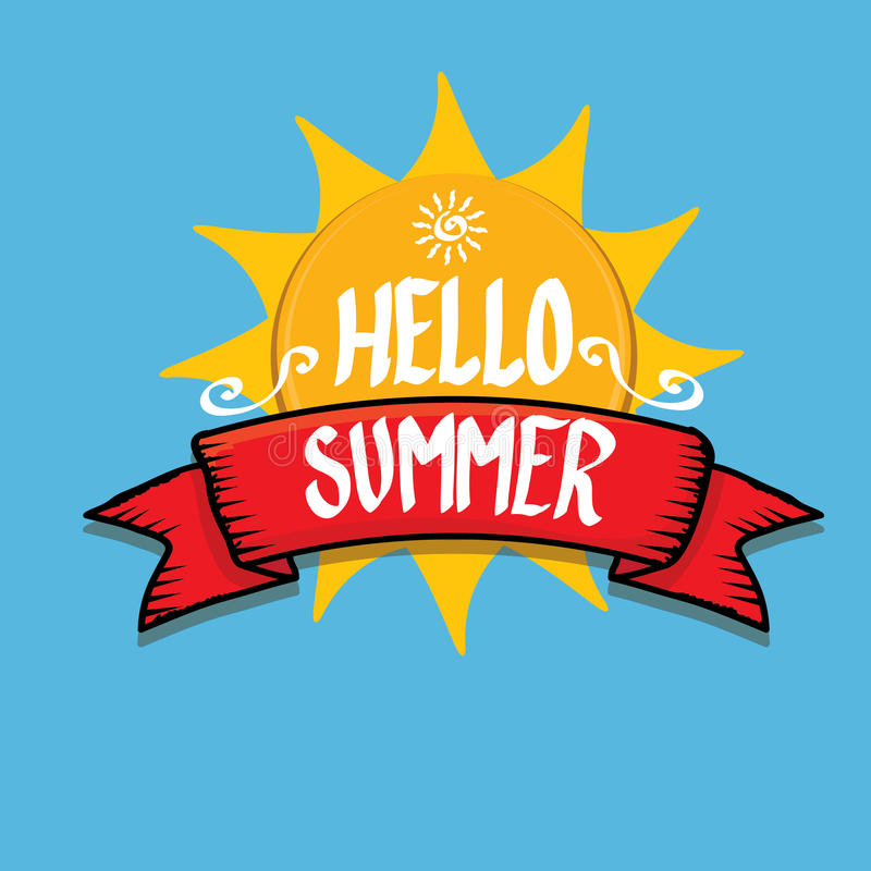 Download Hello Summer Funny Vector Illustration. Stock Vector    Illustration Of Greeting, Creative: