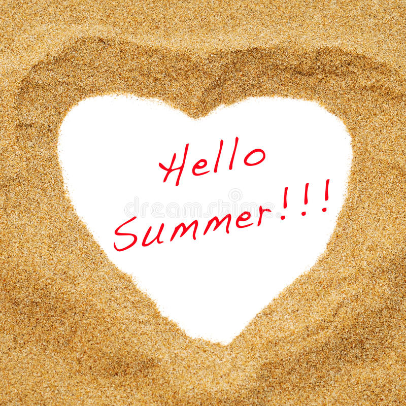 Hello summer royalty free stock images
