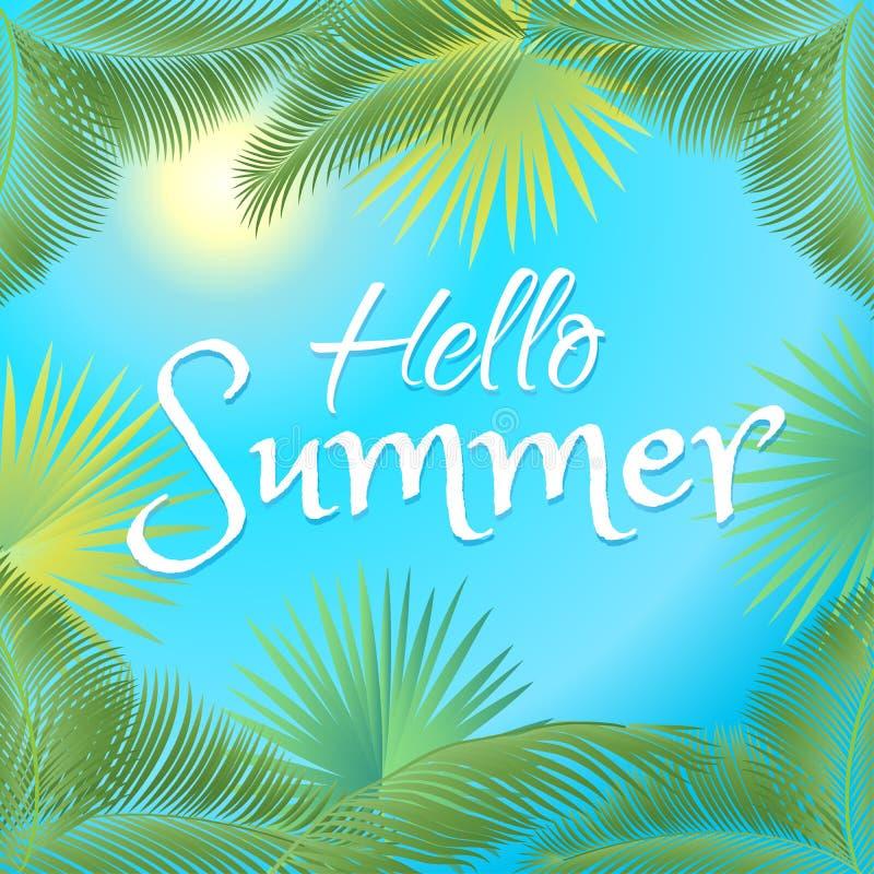 Hello summer illustration royalty free illustration
