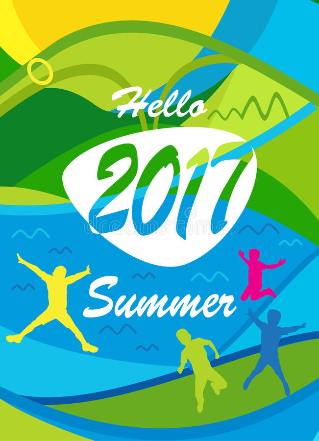 Download Hello Summer Olympic stock vector. Image of cartoon, advertising - 84226666