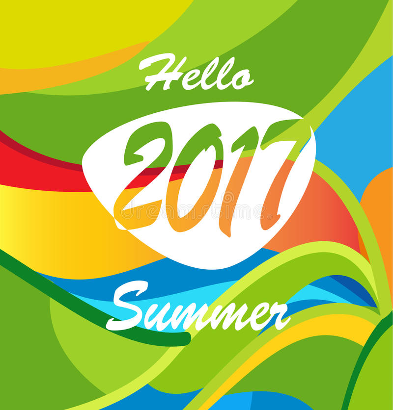 Download Hello Summer stock vector. Image of camper, ball, brazil - 84227019