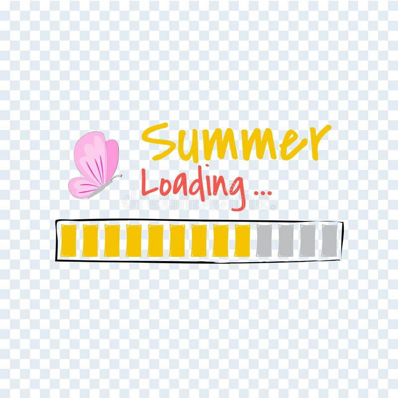 Hello Summer loading progress Bar. vector illustration