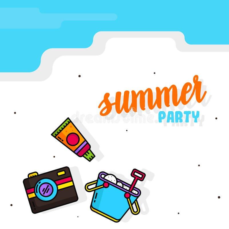 Hello Summer Poster Illustration Vector royalty free illustration