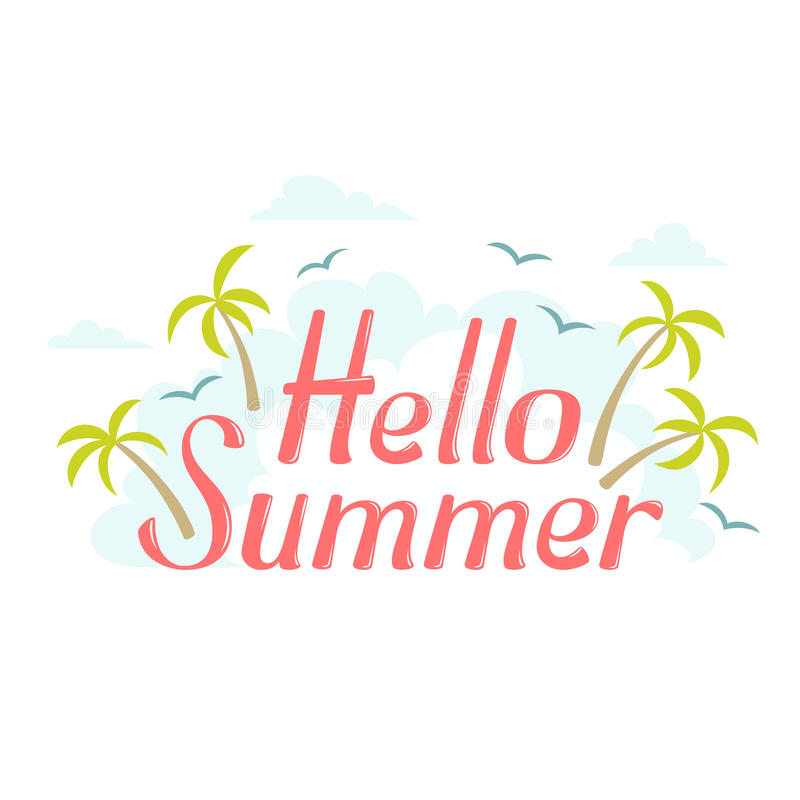 Superbe Download Hello Summer Sea Island Stock Vector. Illustration Of Label    71842883