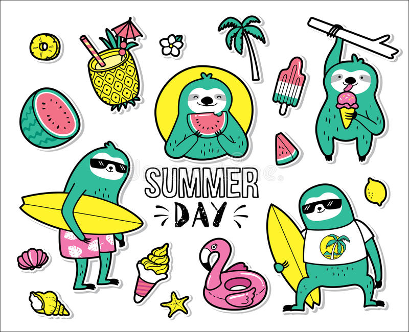 Hello Summer royalty free illustration