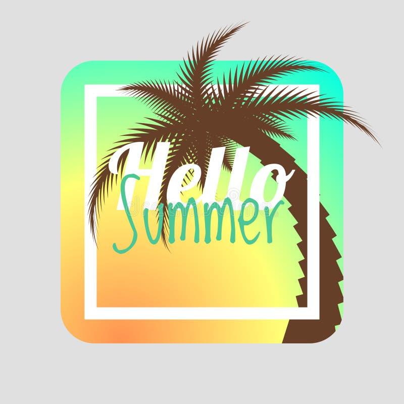 Download Hello Summer. Summer Card, Summer Background. Summer Design. Stock  Vector