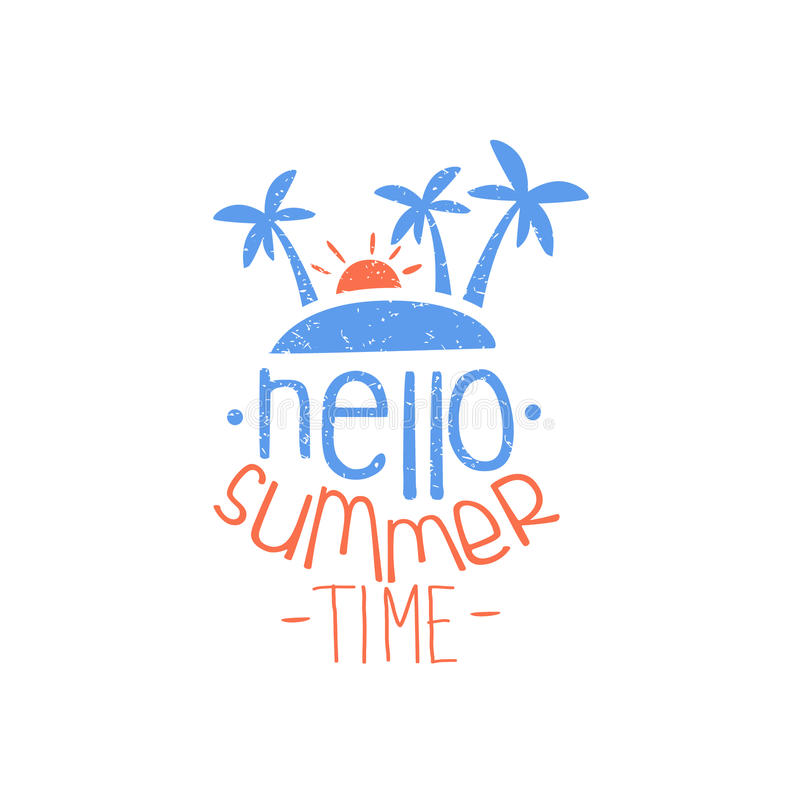 Merveilleux Download Hello Summer Time Colorful Ad Stock Vector   Illustration Of  Symbol, Emblem: 72703910
