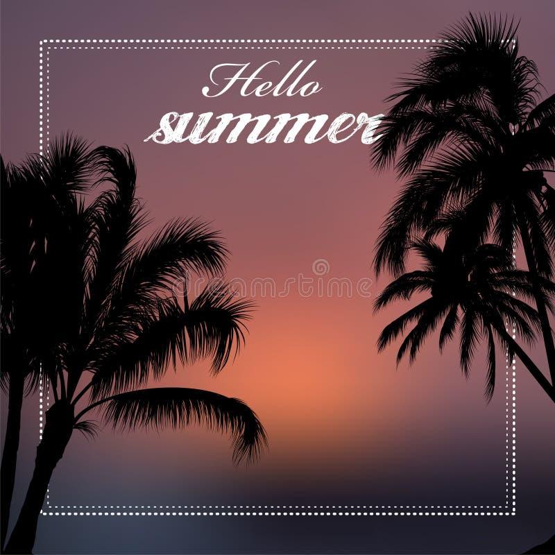 Hello summer vector illustration vector illustration
