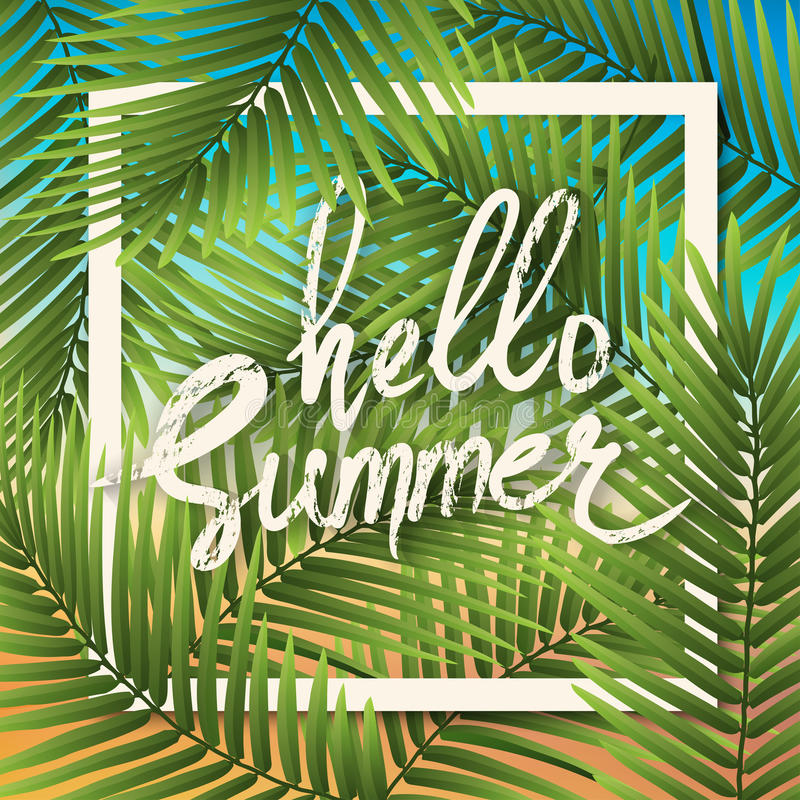 Hello Summer Wallpaper Typographical Background With