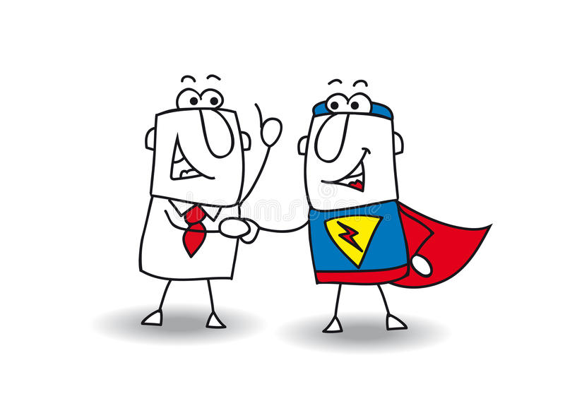 Hello-superhero stock illustratie