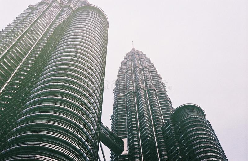 Hello Twin Tower royalty free stock photography