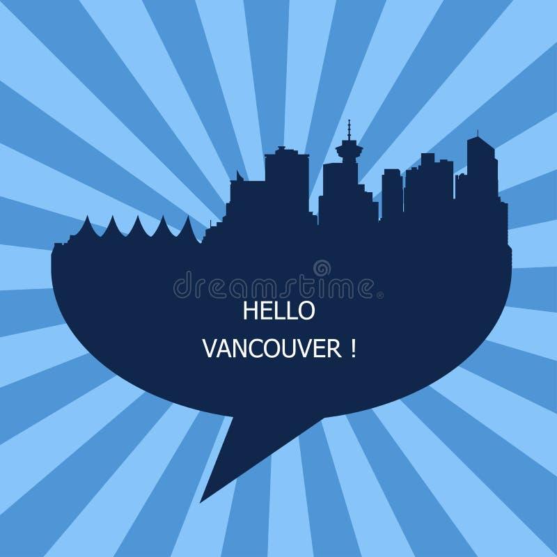 Hello Vancouver, Reis aan Vancouver royalty-vrije illustratie