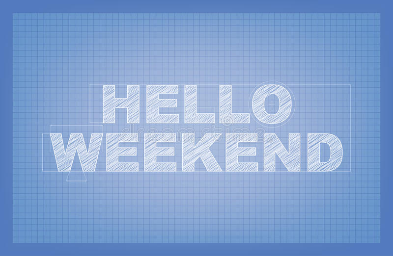 Hello-Weekend! vector illustratie