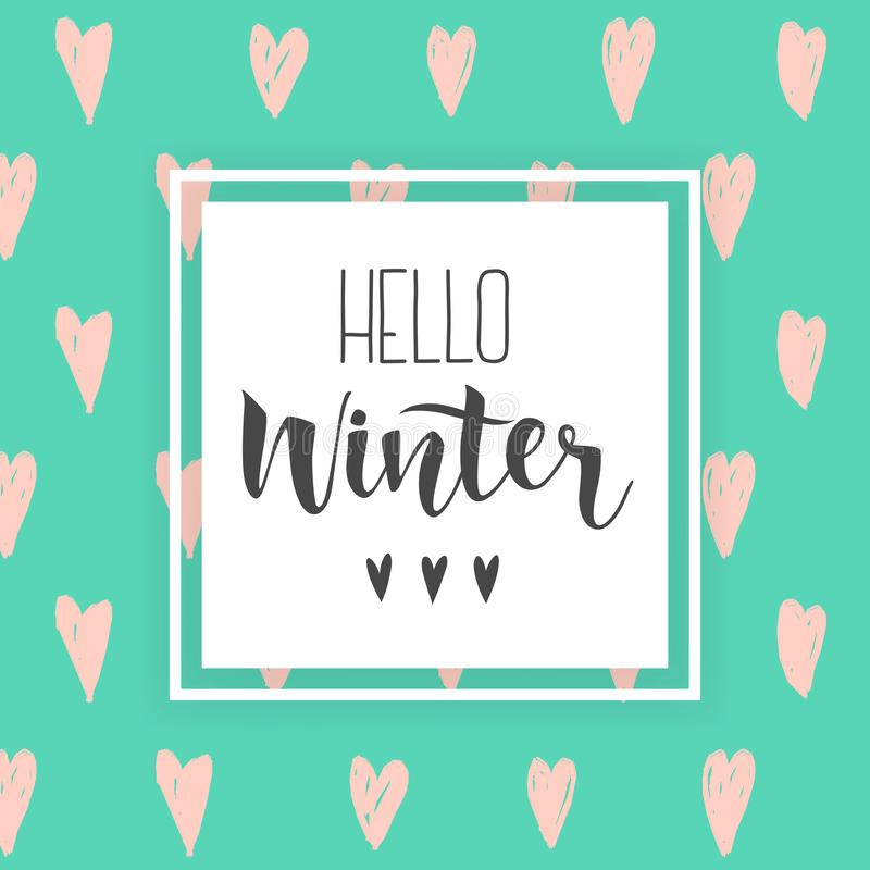 Hello winter handlettering inscription winter logos and emblems for download hello winter handlettering inscription winter logos and emblems for invitation greeting card m4hsunfo
