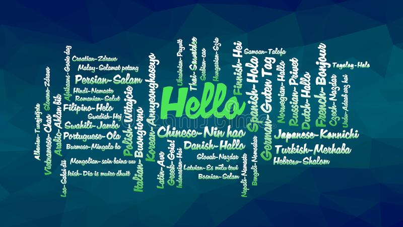 Hello word Cloud, concept illustration stock illustration