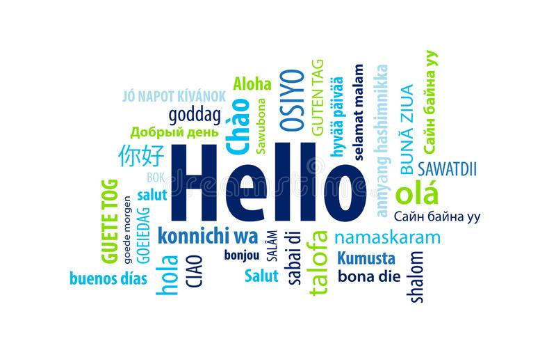 Hello Word Cloud vector illustration