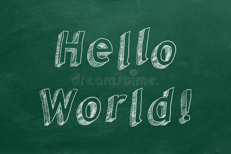 Hello World royalty free stock photo
