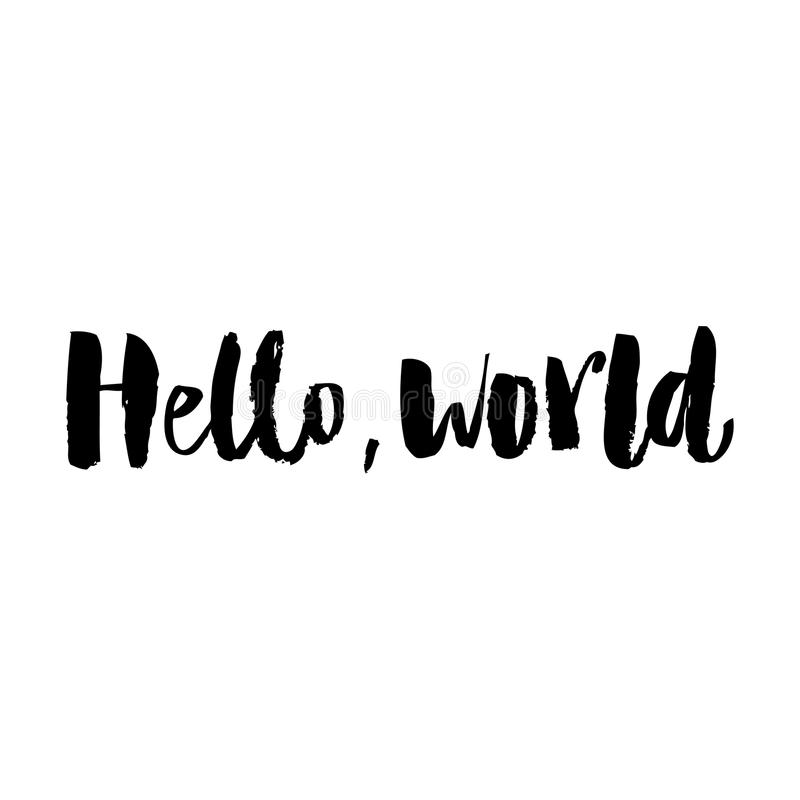 Wallpaper Helloworld: Hello, World. Bright Letters. Modern, Stylish Hand Drawn