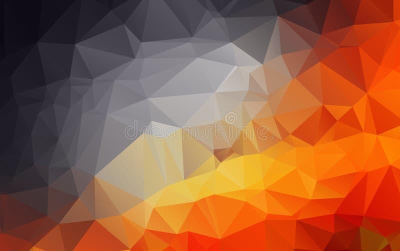 Hellorangee polygonale Illustration, die aus Dreiecken bestehen vektor abbildung