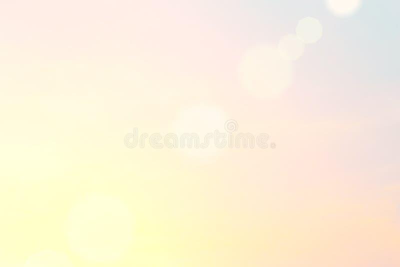 Hellorangee Randzone der Morgensonne stock abbildung