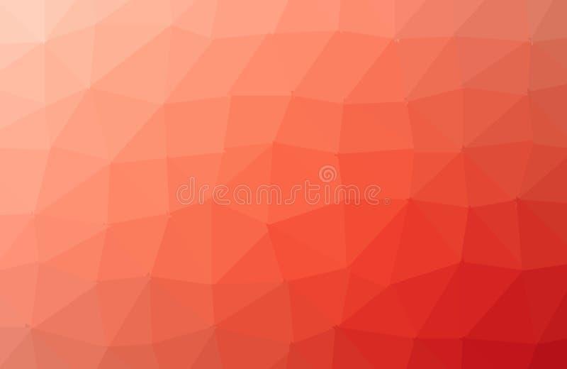 Hellorangees Vektorzusammenfassungs-Mosaikmuster Gl?nzende farbige Illustration in einer nagelneuen Art Eine neue Beschaffenheit  lizenzfreie abbildung