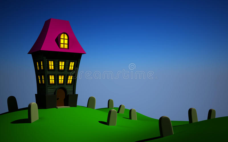 Download Helloween house stock illustration. Illustration of holiday - 27072622