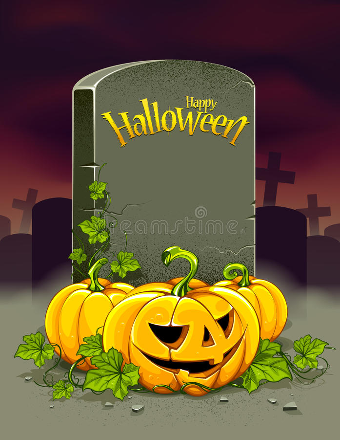 Download Helloween poster stock vector. Image of background, smiling - 33965683