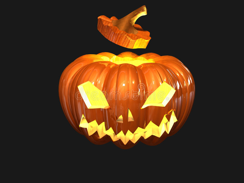 Download Helloween pumpkin stock illustration. Image of orange - 6849983