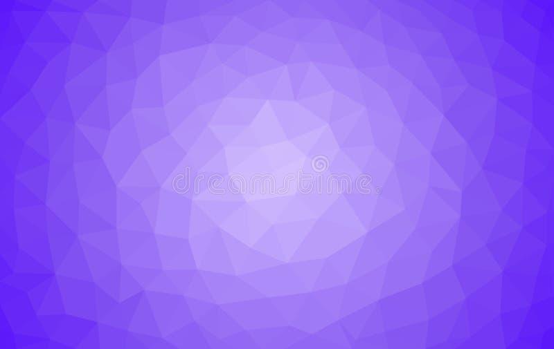 Hellpurpurner niedriger Polyhintergrund, abstrakte Kristallbeschaffenheit, Polygonentwurfs-Vektorillustration stock abbildung
