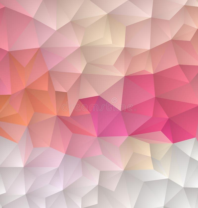 Hellpurpurner rosa abstrakter strukturierter polygonaler Hintergrund Undeutliches Dreieckdesign des Vektors stock abbildung