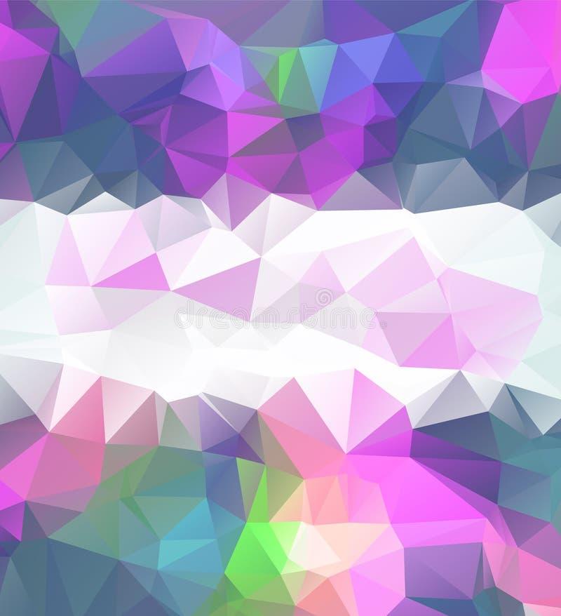 Hellpurpurner Vektorpolygon-Zusammenfassungshintergrund Polygonal mit Steigung Masern Sie Muster für Ihre Hintergründe vektor abbildung