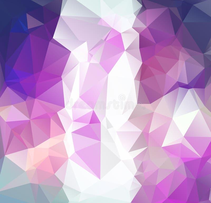 Hellpurpurner Vektorpolygon-Zusammenfassungshintergrund Polygonal mit Steigung Masern Sie Muster für Ihre Hintergründe lizenzfreie abbildung