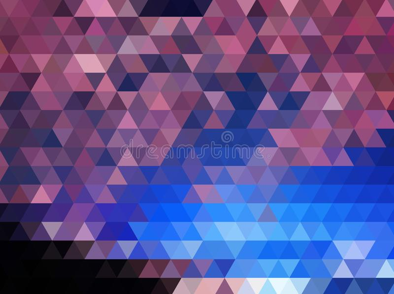 Hellrosa blauer niedriger Polykristallhintergrund Polygondesignmuster stock abbildung