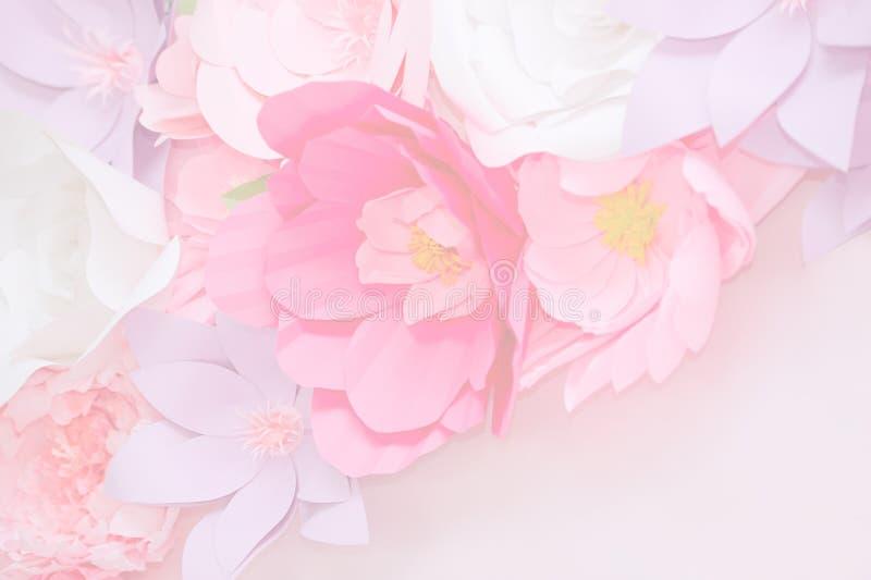 Hellrosa Blumen in der weichen Farbe stockbild