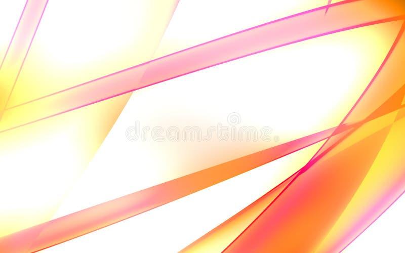 Hellrosa und gelbe glänzende Zeilen stock abbildung